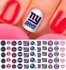 New York Giants Football Nail Art Decals - Salon Quality
