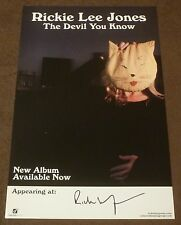 RICKIE LEE JONES SIGNED THE DEVIL YOU KNOW 11x17 inch PROMO POSTER