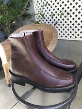 EXECUTIVE IMPERIALS Vintage Burgundy Leather Side Zip Dress Boots Sz 8.5 D
