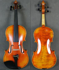 Professional Hand Made 7/8 Size Violin w/ Beautiful Flame Back-Women Use Violin