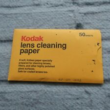 Vintage Kodak Lens Cleaning Paper 50 Sheets Discontinued