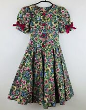 Vintage Mille Feuilles Girls Size 7 Dress Floral Fit N Flare Button Front Canada