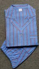 Herren Schlafanzug kurz Shorty Knöpfe Eingriff gewebt Baumwolle Gr.56 NEU (2)