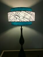 Mid Century Vintage Style 3 Tier Fiberglass Lamp Shade Modern Atomic Retro TB3