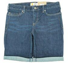 NEW Carhartt Womens Size 8 Slim Fit Stretch Layton Bermuda Denim Jean Shorts NWT