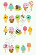 Ice Cream Nail decals (eater decals) Cute Ice Cream Nail art