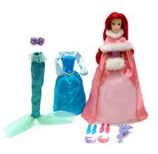 Disney Store Little Mermaid Ariel Winter Boutique Luxury Dresses Wardrobe Set