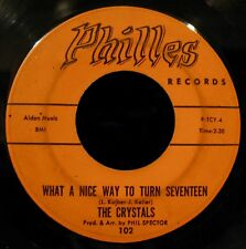 THE CRYSTALS-Uptown & What A Nice Way To Turn Seventeen-Girl Group-PHILLES #102