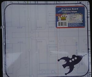 """DRY ERASE WHITEBOARD DURABLE 10.6"""" x 11.8"""" SELECT: COLOR PATTERN White Board"""