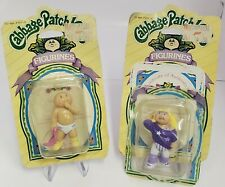 2 x Vintage 1985 Cabbage Patch Kids Figurines New in Card - Rare Baby New