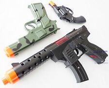 3x Toy Guns Military KG-9 Pistol Camo 9MM Detective Revolver Cap Gun Set