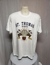 St. Thomas USVI Adult White XL T-Shirt