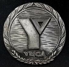 Vintage YMCA metal emblem! 64 mm diameter! 76.9 grams!