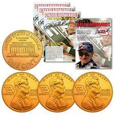 DALE EARNHARDT 1998 Daytona 500 Win 24K Gold P Commemotative Lucky Penny (QTY 3)