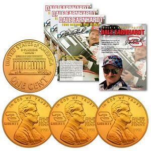 DALE EARNHARDT 1998 Daytona 500 Win 24K Gold P Commemorative  Lucky Penny (QTY