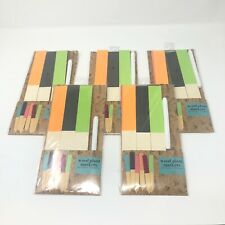 Wooden Plant Markers Set of 5 Multicolor Includes Marker 30 Total New In Package