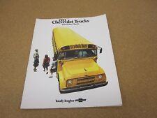 1971 71 Chevrolet School Bus 8 page sales brochure dealer literature