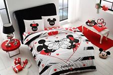 duvet quilt cover set disney mickey minnie mouse double queen size bedding amour