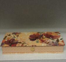 Trinket Box  Gift Wedding Hinged Floral New Decorative Peach Ivory Lavender