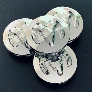 4x 63MM Gloss Black Wheel Center Hub Chrome Caps Rim For Dart Avenger Ram 1500