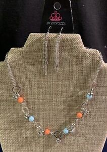 paparazzi accessories earrings Multi Color Necklace with Earrings