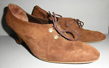 PETER KAISER ALL LEATHER BROWN SUEDE WOMANS SHOES MADE IN GERMANY HEELS