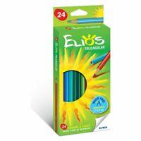 Box from 24 Colours Crayons Pencils Coloured Elios Triangular Giotto Fila