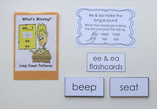 Teacher Made Literacy Learning Resource Game Pack Long Vowel Patterns ee & ea