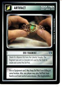 Star Trek Ccg DS9 Rare Carte Orb Fragment
