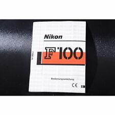 Nikon F100 / F 100 Bedienungsanleitung / Gebrauchsanweisung / Anleitung DEUTSCH
