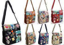 Damentaschen aus Synthetik mit Fächern und Reißverschluss