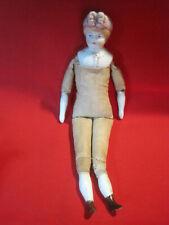 Antique Parian bisque head doll Nanking cloth body Parian head lower arms & legs