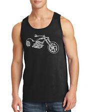 Motorcycle Typography Men's Tank Top Biker Club Apparel