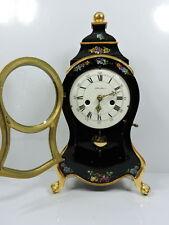 Hochler-Black Timber Vintage Boulle Swiss Clock