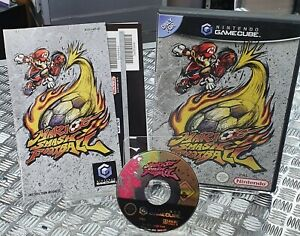 MARIO SMASH FOOTBALL - Game for Nintendo GameCube - With Manual UK PAL VG Cond.