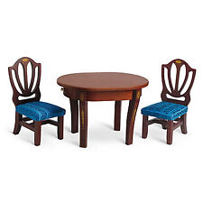 """American Girl CAROLINE TABLE & CHAIRS for 18"""" Doll Wood Furniture Dining NEW"""