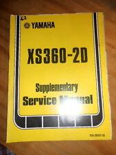 Yamaha Supplementary Service Manual 1977 XS360 2D