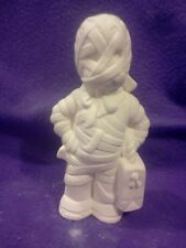 """Ceramic bisque Clay magic Mummy 7.5"""" ready to paint"""