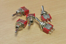 Expo A28092 - 5 x Sub-Miniature (Very Small) DPDT 3 Pin On/On Switches 1st Post
