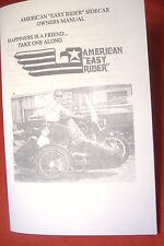 Easy Rider Sidecar Owners Manual, Set Up, Motorcycle