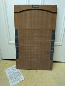 VINTAGE LINDOP WOODEN SHOVE HA'PENNY BOARD PUB GAME WITH INSTRUCTIONS