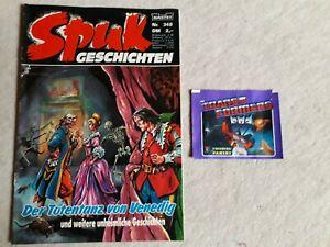 Comic Spuk Geschichten Nr. 348 mit Beilage Panini Tüte Transformers Bastei 1989