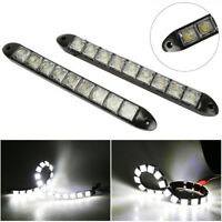2Pcs Car 9LED Daytime Running Light DRL Auto Fog Day Driving Lamp White DC Top
