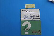 Bridgestone 50 Owner's Manual,  Sales Brochure and tag