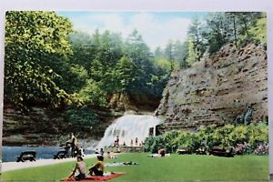 New York NY Robert Treman State Park Pool Falls Ithaca Finger Lakes Postcard Old