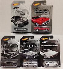 Hot Wheels 2015 James Bond - Walmart Exclusive complete set of 5 NEW SEALED