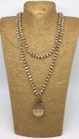 Fashion Bohemian knot tribal Crystal necklace w crystal pendant woman jewelry