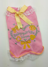 """XS 19CM TEACUP PINK """"BABY"""" DOG TOP DRESS CHIHUAHUA YORKIE PUPPY YORKIE"""
