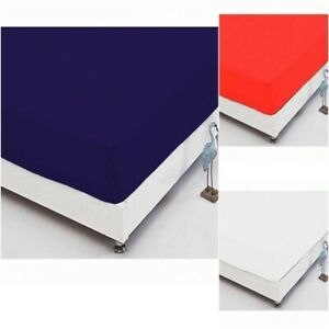 Full Fitted Sheet Bed Sheets 100% Poly Cotton Single Double King Size