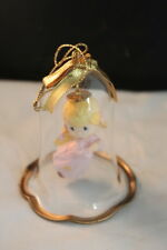Precious Moments Angel Bell Glass Christmas Ornament Joy to the World